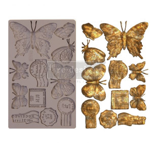 "Молд Butterfly in Flight Prima Marketing Re-Design Mould 5""X8""X8mm"